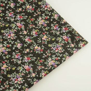 Black Cotton Fabric for DIY Sewing Patchwork Tissue Fabric Tilda Doll Cloth Textiles Fat Quarter for Geginner's Practice CM