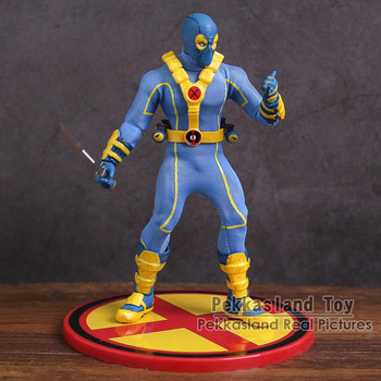Mezco Oyuncaklar X-MEN Mavi Deadpool 1/12 Kolektif PVC Action Figure Model Oyuncak